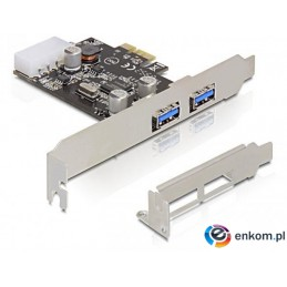 DELOCK KARTA PCI-E -  USB 3.0 2-PORT 89243