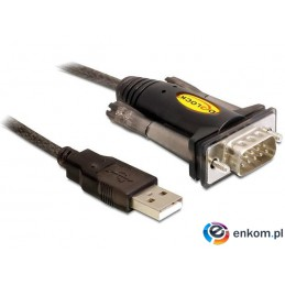 Kabel adapter Delock USB-A 2.0(M)-  RS-232/COM/DB9 (M)