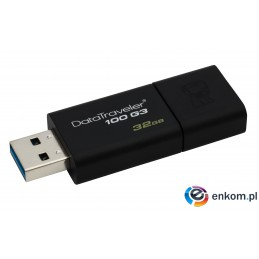 Pendrive Kingston Flash DT100G3/32GB (32GB  USB 3.0  kolor czarny)