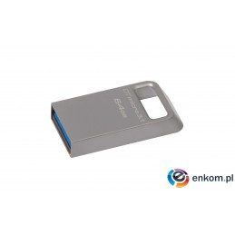 Pendrive Kingston DTMC3/64GB (64GB  USB 3.0  kolor srebrny)