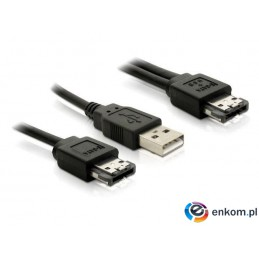Kabel Delock Power over eSATA(M) -  USB(AM) + eSATA(M) 1m