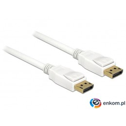 Kabel Delock DisplayPort M/M 20 Pin v1.2 2m 4K biały