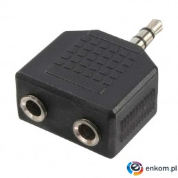 Adapter audio stereo LogiLink CA1002 3,5mm jack (M)   2x 3,5mm jack (F)