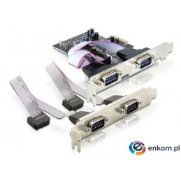 Kontroler COM Delock PCIe 4x RS-232/COM 9-pin