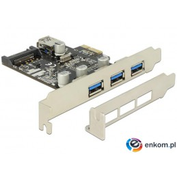 Kontroler USB 3.0 Delock PCIe 3x USB 3.0+ 1x Internal USB