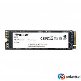 Dysk SSD Patriot P300 128GB M.2 2280 PCIe NVMe (1600/600 MB/s)