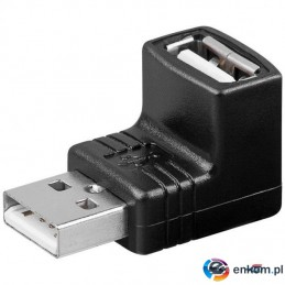 Adapter Manhattan Hi-Speed USB 2.0 A-A M/F kątowy